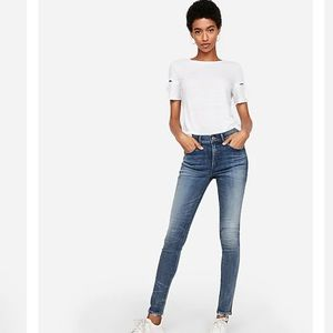 Express High Waisted Denim Perfect Skinny Jeans 0